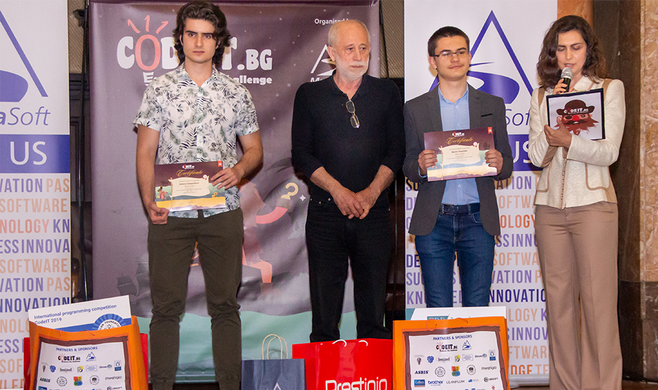 Two first places on the final of CodeIT 2018/2019